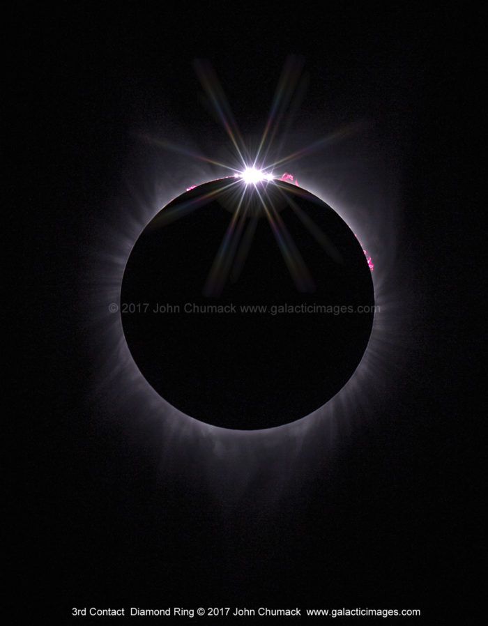 2017 Total Solar Eclipse Diamond Ring Photos
