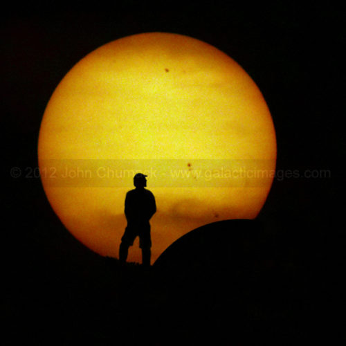 Solar Eclipse at Sunset Photos - A Self Portrait