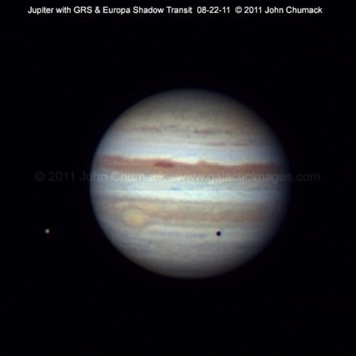 Jupiter Photos & Moon Europa Shadow Transit Photos