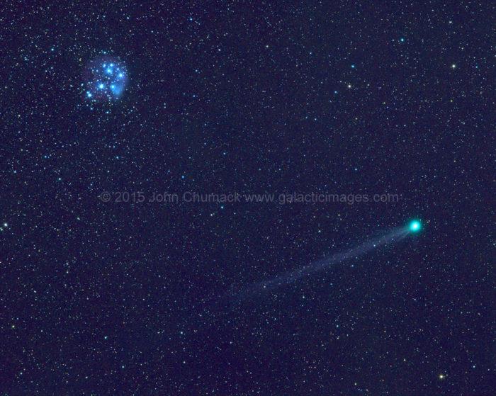 Comet Lovejoy C/2014 Q2 with M45 Pleiades Photo