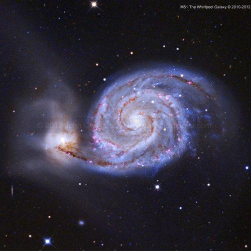 M51 The Whirlpool Spiral Galaxy Photos