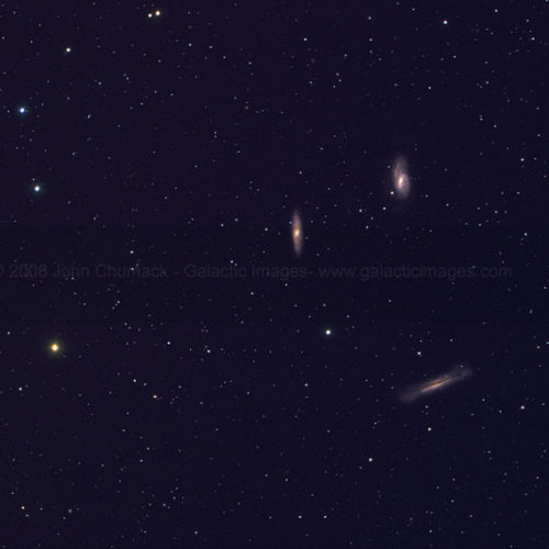 Leo Triplet Spiral Galaxies Photo