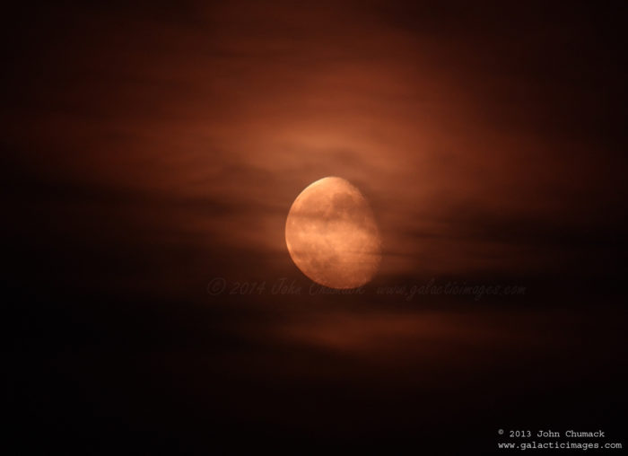 Cloudy Waning Gibbous Moon Photos
