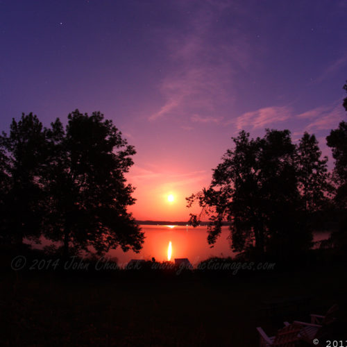 Rice Lake Perigee Moonrise Photos