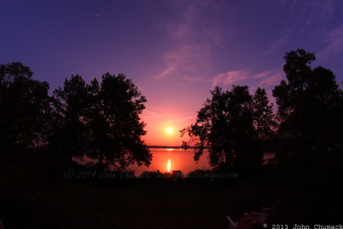 Rice Lake Perigee Moonrise Photos