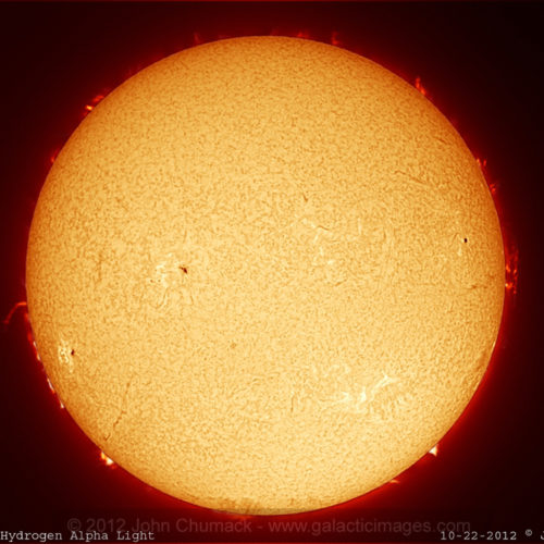The Sun - A Full Solar Disk in Hydrogen Alpha Light - Photos