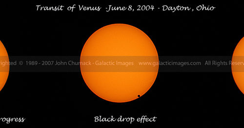 Venus Transit Sequence Photos - 2004