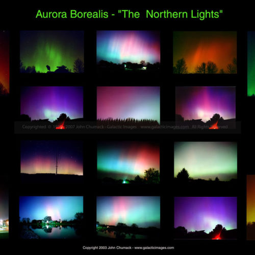 Aurora Borealis Photos - Ohio Montage