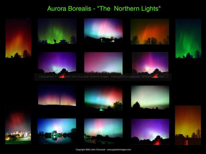 Aurora Borealis Photos - Ohio Montage