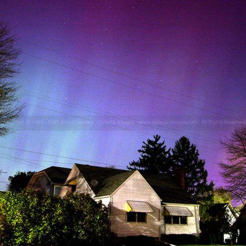 Aurora Borealis photo over East Dayton