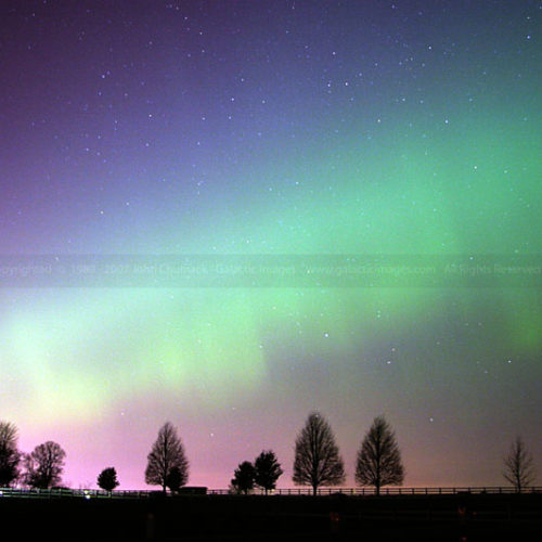 Aurora Borealis Photo over Farm