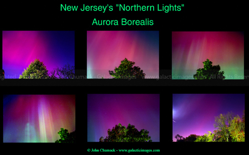 Aurora Borealis photos from NJ & NYC