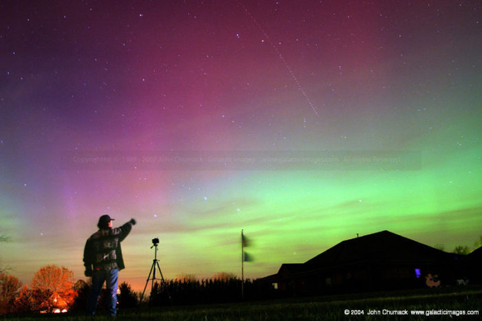 Aurora Borealis Photo with John & Aircraft