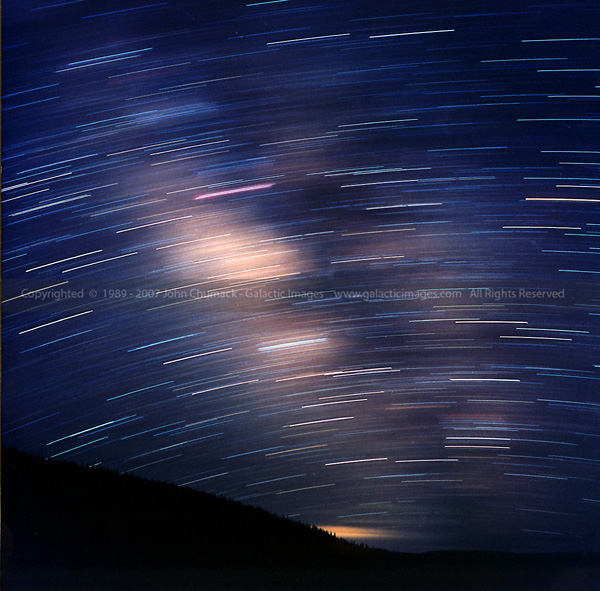 Milkyway Star Trails Photos 30 min
