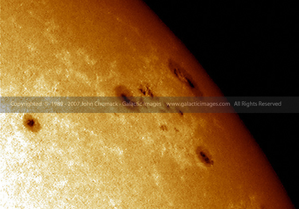 Sunspots Closeup Photos