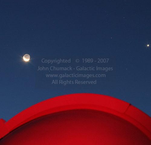 Crescent Moon & Venus & Dome